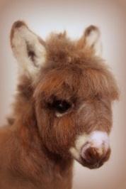 Needle felted donkey 6
