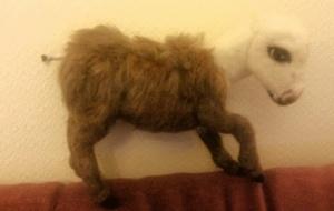 Needle felted donkey 8