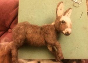 Needle felted donkey 9