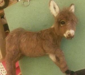 Needle felted donkey 10