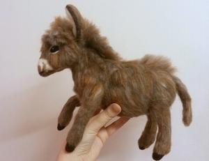 Needle felted donkey (9)
