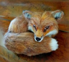 Needle felted fox (3)