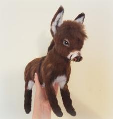 Needle felted donkey (2)