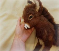 Needle felted donkey (4)